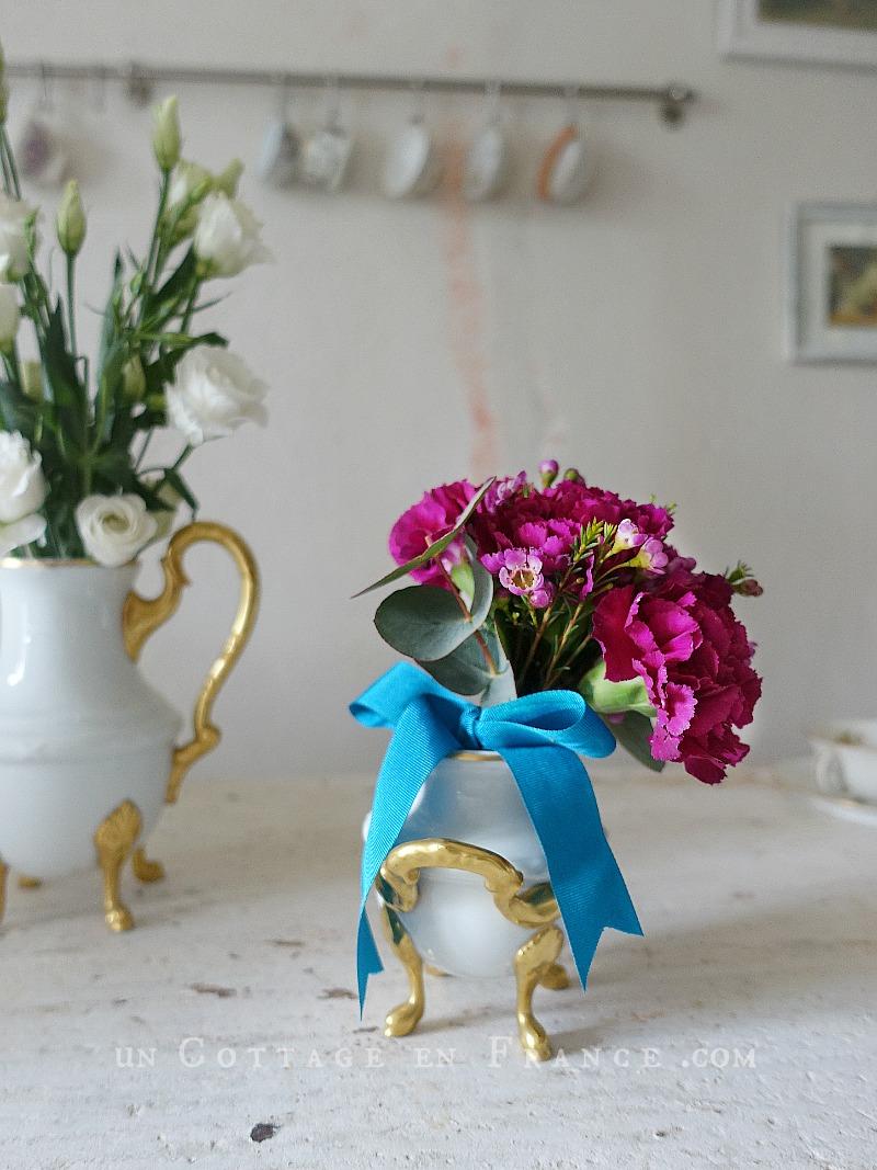 Bouquet d'oeillets romantique (Romantic pink carnations arrangement) 3
