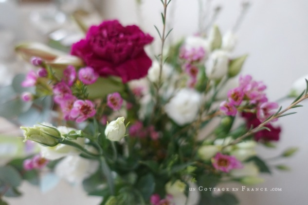 Le bouquet de la Saint valentin, oeillets roses