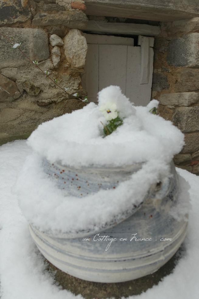 Souvenir de la neige du 6 février 2018, si rare de cette épaisseur en Haut Limousin