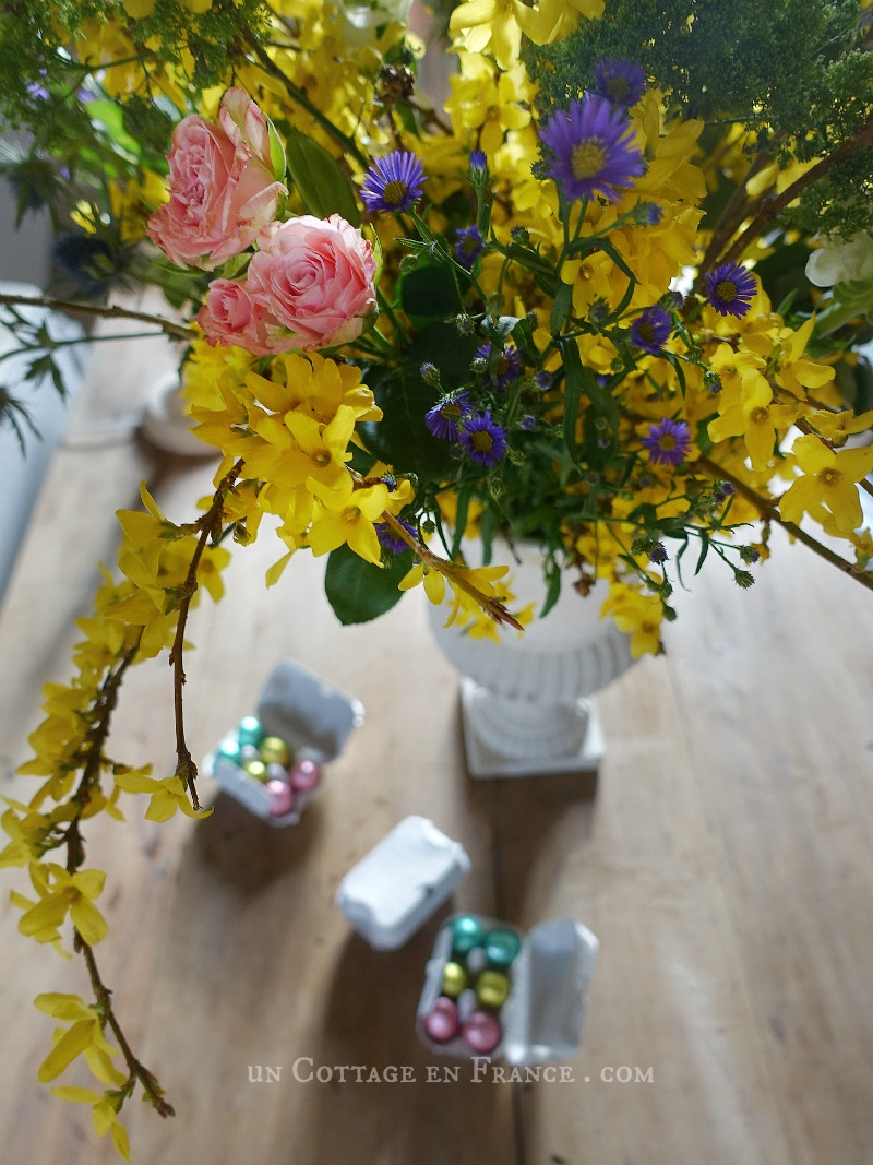 Bouquet de Paques, blog campagne chic
