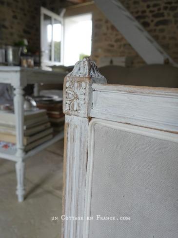 Le canapé repeint à la chaux, blog un Cottage en France