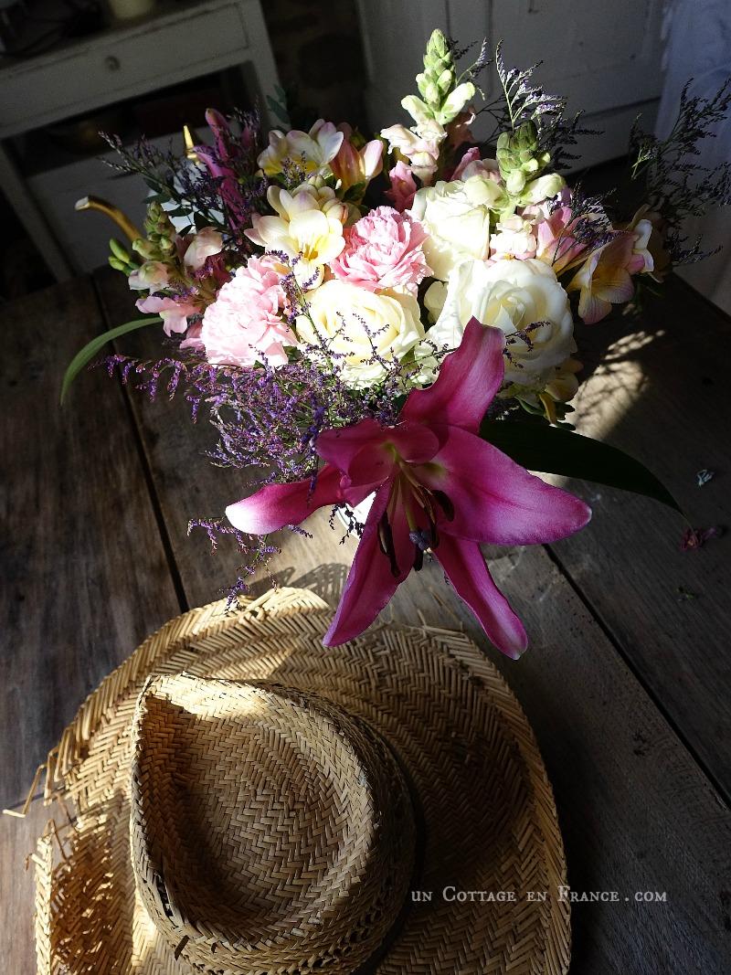 bouquet romantique avril