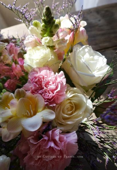 bouquet romantique d'avril