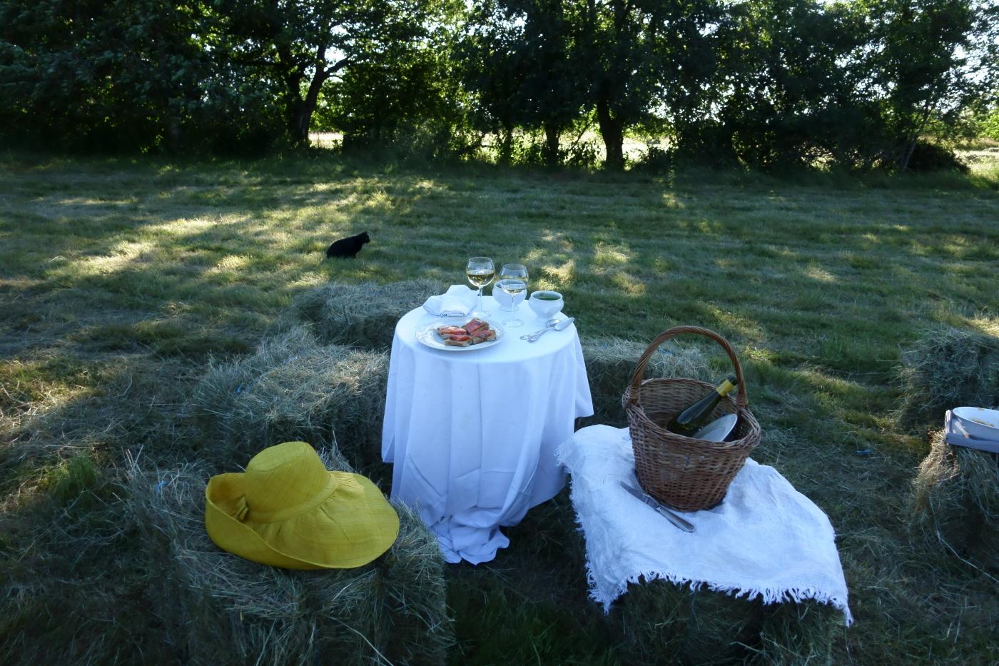 Un verre dans le champ pour célébrer l'été blog country chic 4