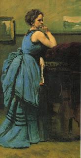 La dame en Bleu, Jean-Baptiste Corot 1874 (Musée du Louvre)