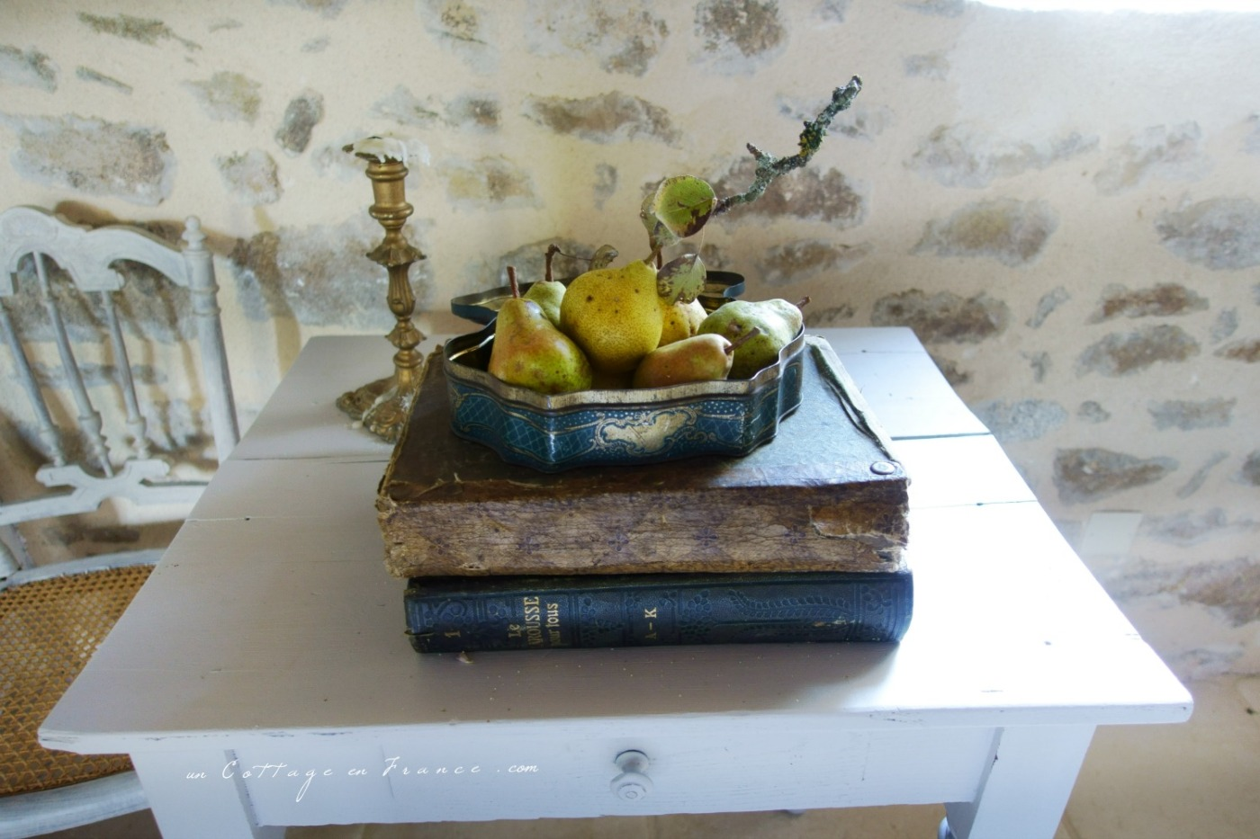 Les poires de la fin d'été au Liboureix dessert campagne chic