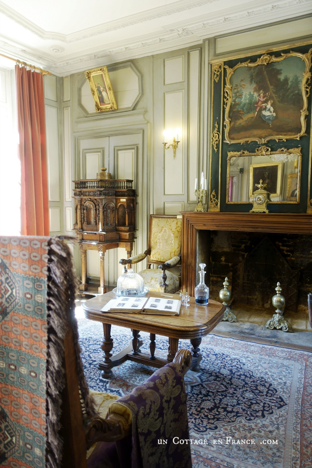Manoir de Gisson Sarlat salon