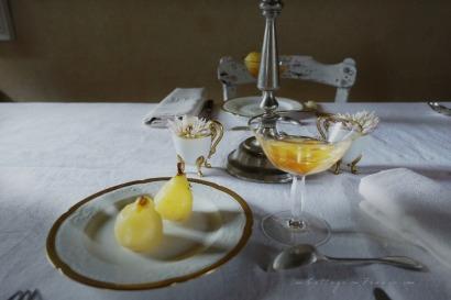 Poires au vin blanc blog décoration cottage 3f