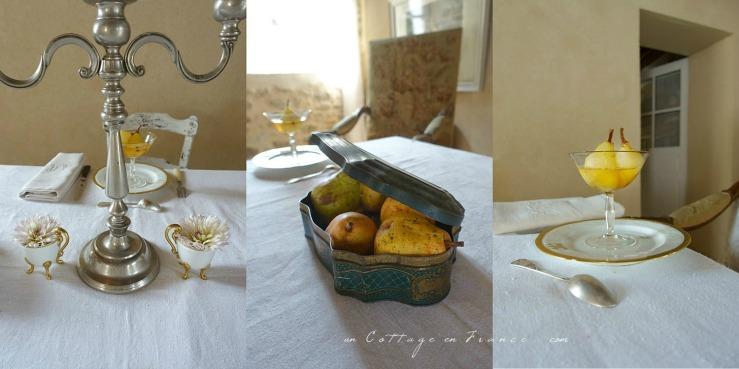 Poires au vin blanc blog décoration cottage 82