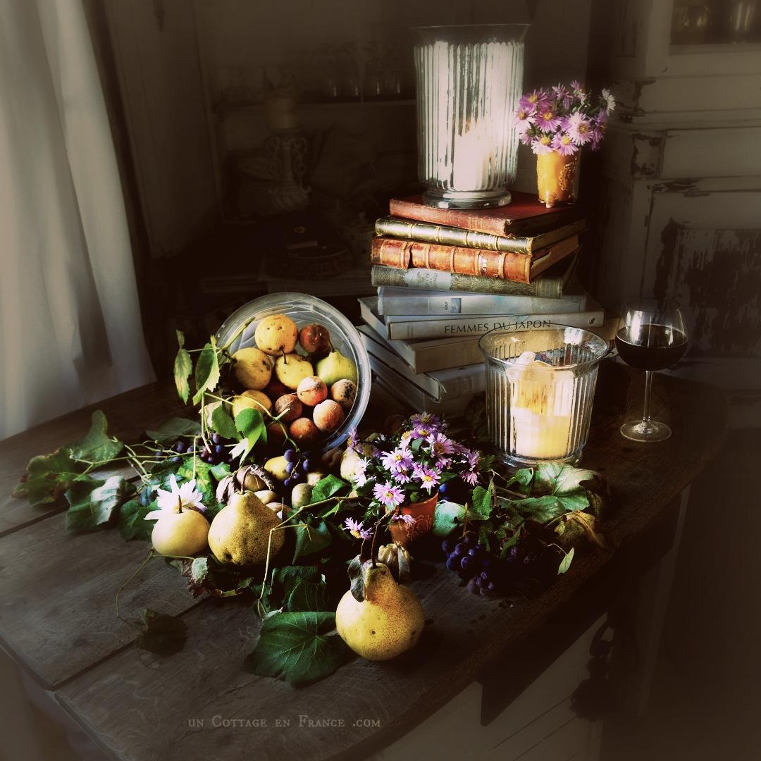 Le petit bouquet d'asters, blog campagne chic 3f1