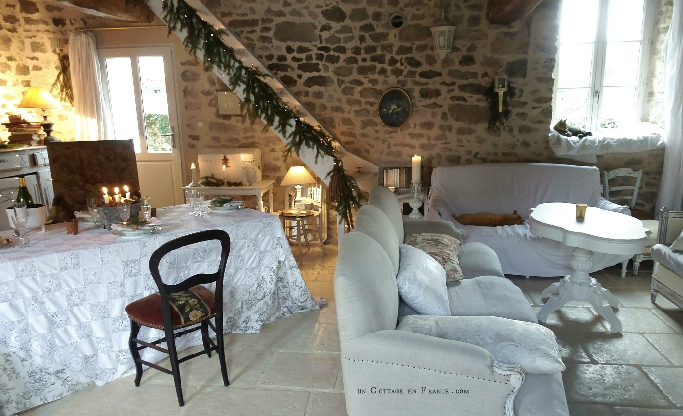 Decor de Noel cottage Un Cottage en France 12j