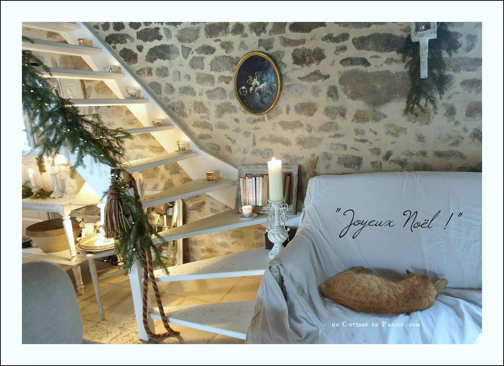 Decor de Noel cottage Un Cottage en France 51j