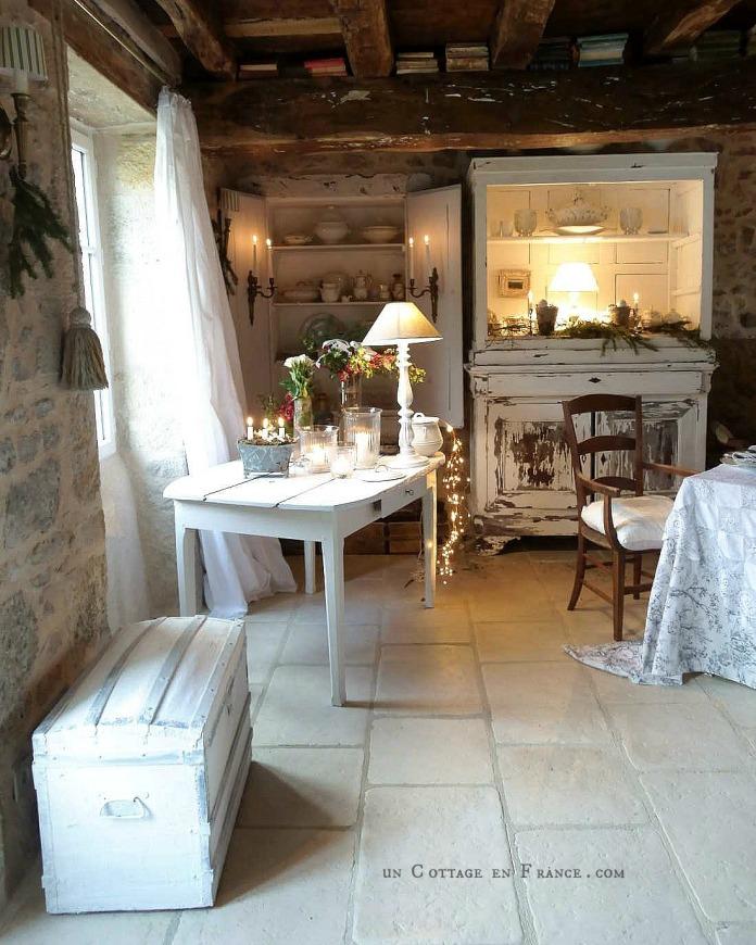 Decor de Noel cottage Un Cottage en France 71