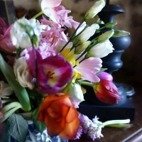 Vives couleurs d'un bouquet de janvier | The bold colours of a January floral arrangement