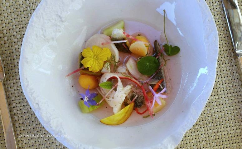 Déjeuner d'été au Domaine des etangs, Charente