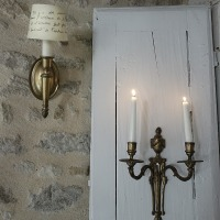 Des minis abats-jours campagne chic | Small country chic sconces shades | diy