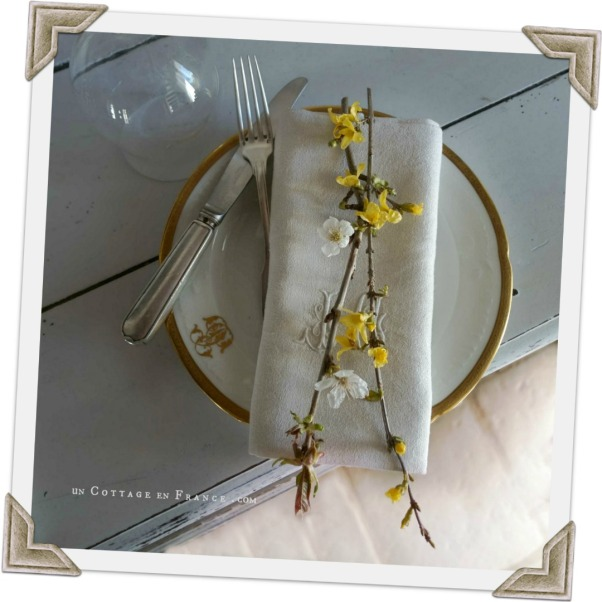 Décoration de table de printemps, un cottage en france 3