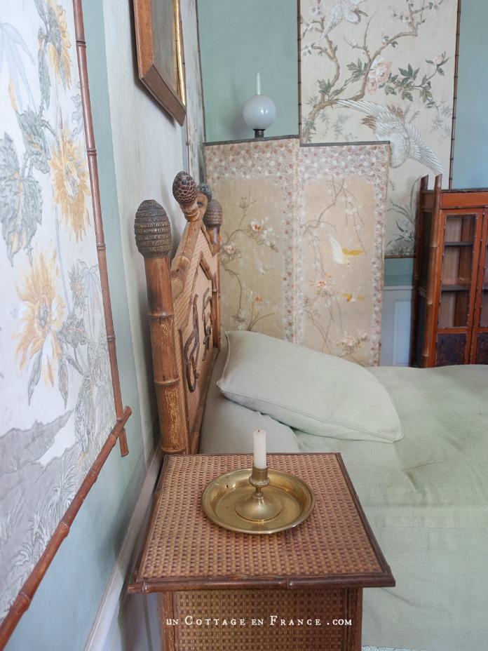 Maison de George Sand, Nohant, chambre verte aux chinoiseries