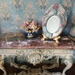 maison d'artiste, french country desig, george sand Berry, chambre romantique, décor ampagne chic bleu, french farmhouse style